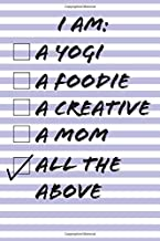 I Am A Yogi, A Foodie, A Creative, A Mom, All The Above: A Daily To-Do Checklist Journal Notebook in Purple Lilac Stripes. The perfect productivity ... small business owners get stuff done.