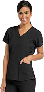 BARCO One 5105 Women's V-Neck Scrub Top Black S