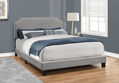 Monarch Specialties Bed Frames Queen Grey