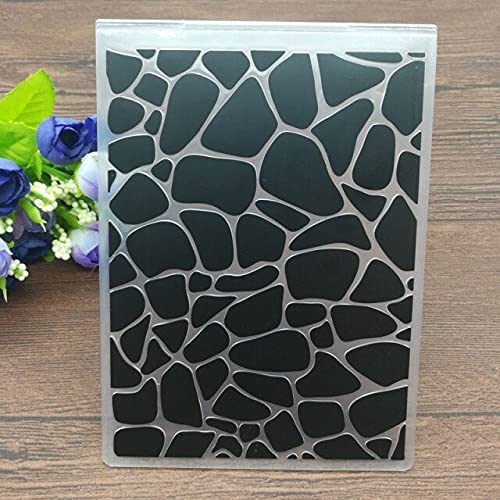 Stone Cobblestone Pattern free shipping Year-end annual account Plastic Embossing Folders DIY Scra for