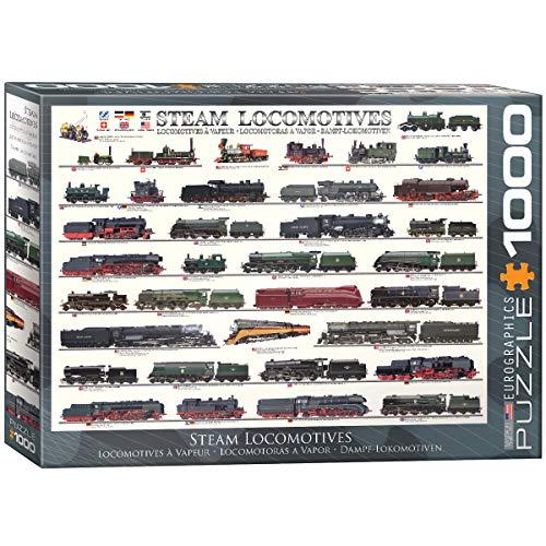 Eurographics 1000 Teile - Dampflokomotiven