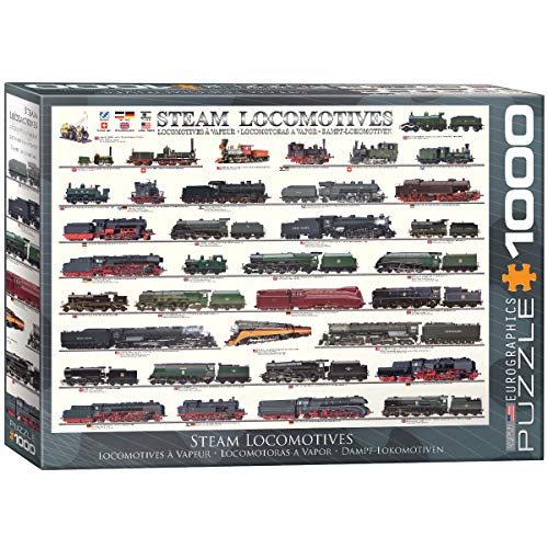 EuroGraphics Steam Locomotives Puzzle   Rompecabezas (Puzzle Rompecabezas, Vehículos, Niños y Adultos, Niño/niña, Caja, 355,6 mm)
