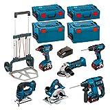 Bosch Kit psl6m3a (GBH 18V-EC + GKS 18V-LI + GWS 18V-LI + GDX 18V-LI + GSB 18-2-LI + GST 18V-LI + 3x 4,0Ah Li-Ion + 2L-BOXX 238+ 2x L-Boxx 136+ Bosch Caddy)