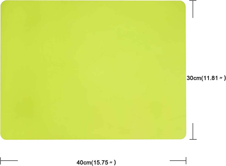 ANEWISH 2 St/ücke Rutschfestes Silikon-Tischset f/ür Jungen und M/ädchen 40 x 30 cm Gelb