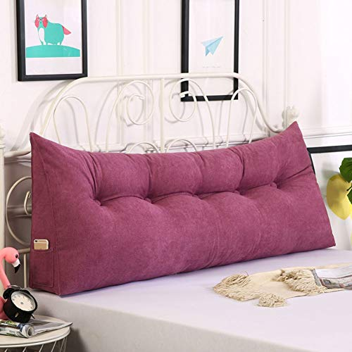Z&H Queen Bed Twin Big Long Reading Pillow Cushion,Removable Headboard Cushion Pillow Backrest Cushion Large Waist Pillow For Bed Sofa Tatami Purple 180 * 50 * 23cm (71 * 20 * 9')
