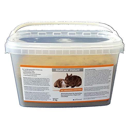 RodiCare®Instant 2 kg Einheit: 2 kg Alleinfuttermittel für Zwergkaninchen, Meerschweinchen, Degus und Chinchillas-Päppelfutter mit gesunden Kräutern