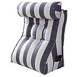 Almohada de Lectura con Almohada Ajustable para el Cuello, Cama Respaldo en Forma de cuña Almohada de Descanso para Lectura Respaldo para Adultos Cojín de salón Soporte para la Espalda