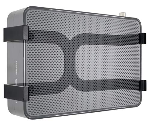 Q-View - Clip de pared para soporte 360 y V6 en color negro