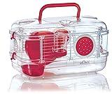 Zolux Rodylounge Cage Mini Module de Transport pour Hamster Souris/Gerbille Cerise