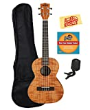Kala KA-TEM Exotic Mahogany Tenor Ukulele Bundle with Gig Bag, Tuner, Austin Bazaar Instructional DVD, and Polishing Cloth