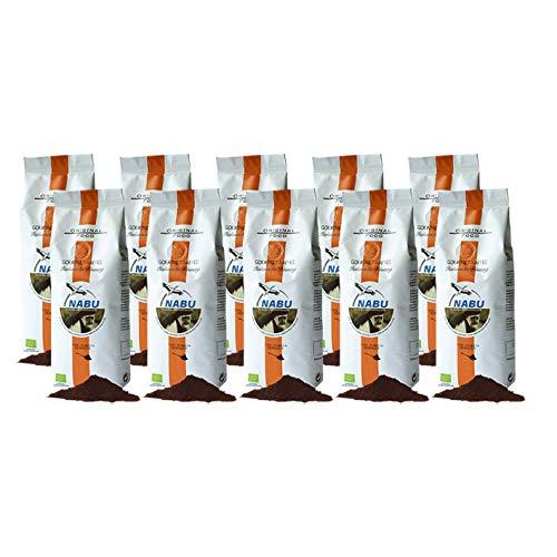 NABU Kaffee - Gourmet Kaffee Italienische Röstung gemahlen, 250 g, 10er Pack