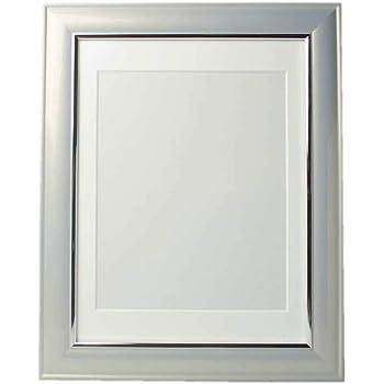 遺影 グレー 薄灰色 額縁 肖像額 葬儀用四つ切写真 無反射ガラス