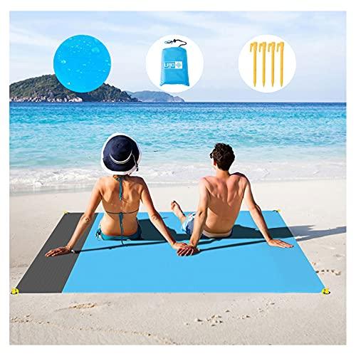 LRIO Outdoor Kompakte Picknickdecke - Stranddecke, Strandmatte wasserdichte, Leichte Camping Regenplane, Musikfestival Ausrüstung, Matte für Wandern, Sport & Strand. Mit eigenem Beutel