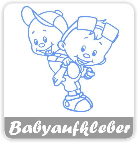 Babyaufkleber, Geschwisteraufkleber für Auto mit Wunschtext (GS-08)