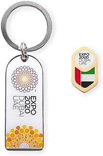 Expo 2020 UAE Flag Pin Gold and White Bottle Opener Gift Pack of 2