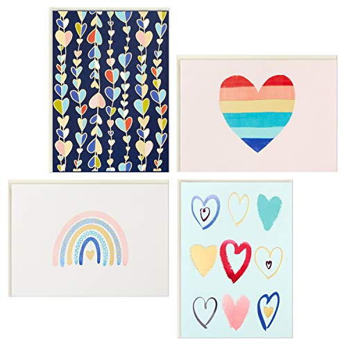 Hallmark Kids All Occasion Cards Assortment, 24 Blank Cards with Envelopes (Hearts)