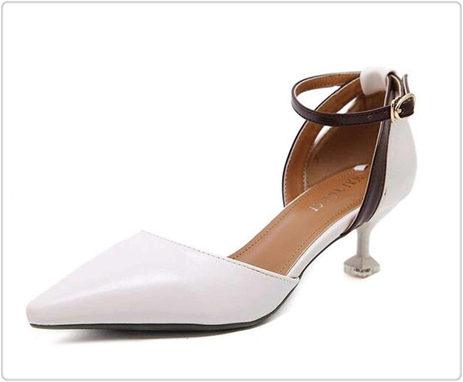 ANGERT& Sandals Woman Patchwork Wedding shoes Gladiator Pointed Toe Heels Ankle Buckle