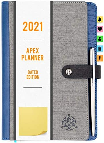 STYLIO APEX Planner 2021 Fully Dated Monthly Weekly Daily Calendar Planner Include Planner Stickers product image