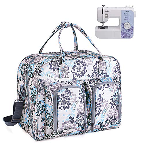 Tote Bag for Sewing Machine and Extra Sewing Accessories Sewing Machine Cover cab55 Sewing Machine Carrying Bag with Removable Padding Pad Grey