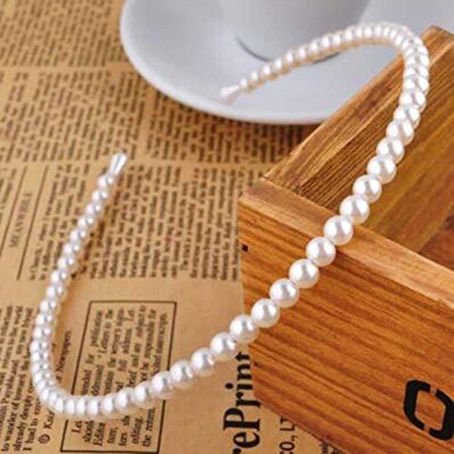 Banda de pelo imitación intento muchachas de las mujeres anillo de matrimonio pelo aro de perlas de novia,1