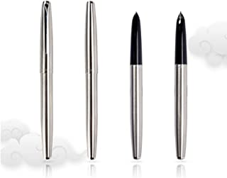 Smooth Slim Silver Deluxe JinHao 911 Fountain Pen 0.38mm Extra Fine Nib