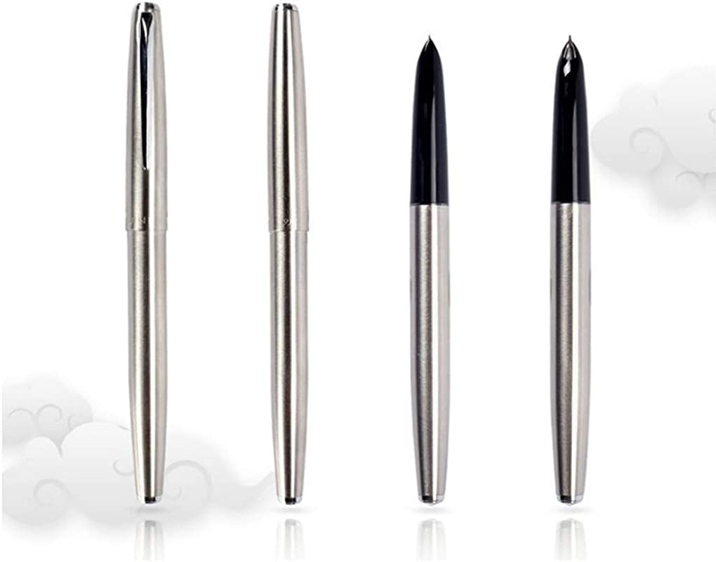 Smooth Slim Silver Deluxe JinHao 911 Fountain Pen 0 38mm Extra Fine Nib