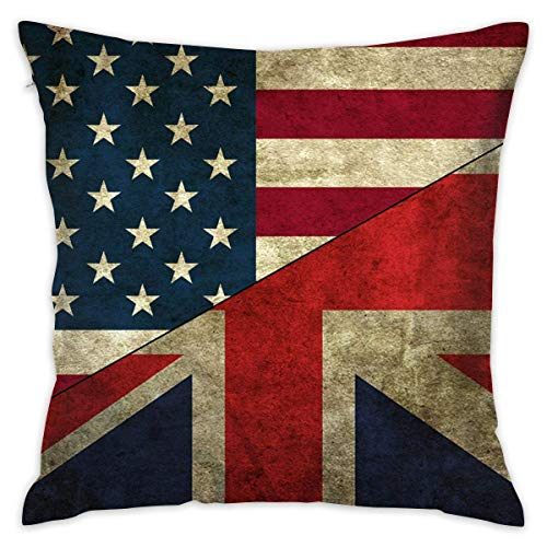 "Preisvergleich Produktbild Suxinh 55605 Flags USA UK Flag.jpg Throw Pillow Covers Decorative Pillowcases Toss Pillow Cushion Slips Covers for Sofa Couch Car 18""x18"""