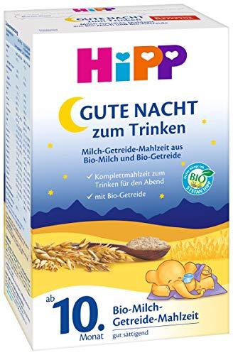 Hipp Gute Nacht Bio-Milch-Getreide Mahlzeit ab 10. Monat, 4er Pack (4 x 500g)