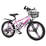 Axdwfd Infantiles Bicicletas Los Niños De La Bicicleta De Pedales For Niños Y Niñas, Los Frenos, Las Ruedas De 20 Pulgadas, 3 Colores (Color : Pink)