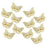 McSkin, fermagli per capelli a forma di farfalla, in metallo, per ragazze e donne, 12 pezzi, colore: oro