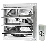 iLIVING ILG8SF16VC Shutter Mount Exhaust Fan, Silver