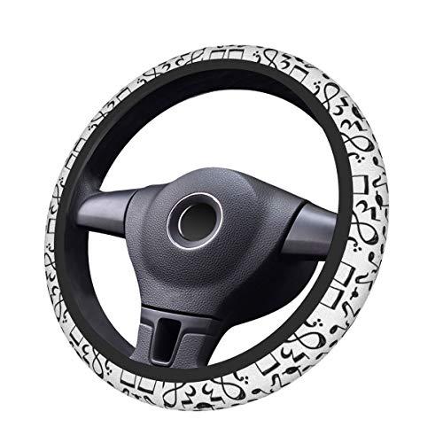 Foruidea - Funda de neopreno para volante de coche, diseño de nota...