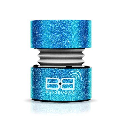 BassBuds Tragbarer Bluetooth-Lautsprecher–Glitzer Blau