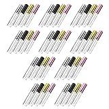 PIXNOR 40 Unidades de 10Ml de Tubo de Brillo de Labios Vacío Botellas de Brillo de Labios Recargables Mini Botellas de Bálsamo Labial Envases de Llenado de Labios DIY Botella de Muestra