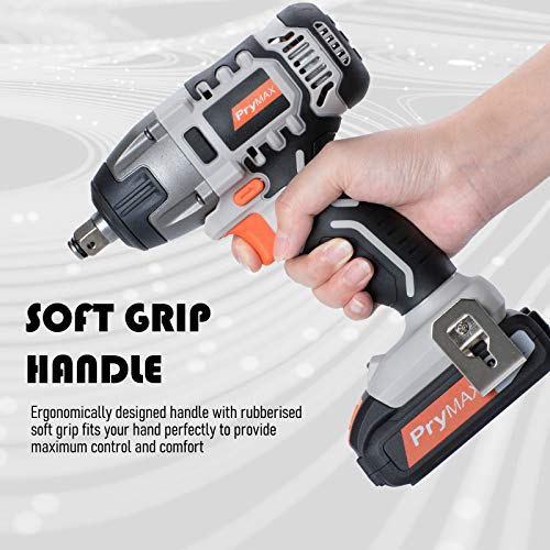 Prymax 20V MAX Cordless Impact Wrench with LED Work Light, 1/2