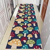 廊下敷きカーペット 玄関マット床マット保育園ラグ、 子供たちはラグランナーカーペットを再生します キノコのデザイン、 屋内/屋外 玄関マット、 60cm / 80cm / 100cm / 120cmワイド (Size : 100x300cm)