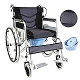 XYW Silla de Ruedas - Silla de Ruedas Plegable Silla de Ruedas Espesada Tubo de Acero Ancianos Personas con discapacidad transportes de Viaje (Size : #11)