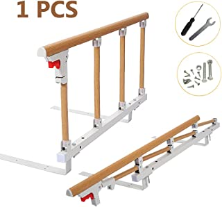 Bed Rails for Elderly Adults Grab Bar Bed Hand Rails Assist Rail Handle Fold Down Medical Hospital Sides Rails Guard Home Care Handicap Safety Assistance Devices (18 inch H)