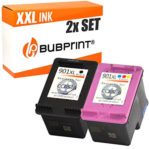 2 Bubprint Cartucce d'inchiostro compatibili per HP 901 XL per OfficeJet 4500 Wireless J4500 J4524 J4535 J4540 J4545 J4550 J4580 J4600 J4585 J4624 J4660 J4680 J4680C Nero e DreiColorato