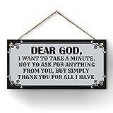CARISPIBET Dear God house decorative sign...