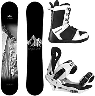System Timeless and Summit Complete Men's Snowboard Package New 2020