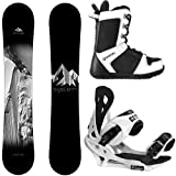 System Package Timeless Snowboard 163 cm Wide-Summit Binding 2019 APX Snowboard Boots 12