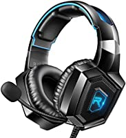RUNMUS Gaming Headset for PS4, Xbox One, PC Headset w/Surround Sound, Noise Canceling Over Ear Headphones with Mic,...