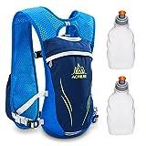 Geila Deportes al Aire Libre la Competencia de Maratón de Mochila de Hidratación con 2 Botellas de Agua (Azul)