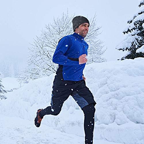 OZERO Winter Beanie Daily Hat Warm Polar Fleece Ski Stocking Skull Cap for Men and Women Gray