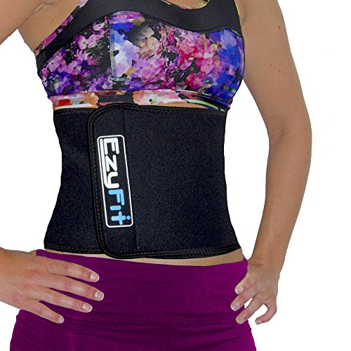 EzyFit Waist Trimmer Ab Belt, Slimmer Stomach Abs Tightener Weight Loss Sweat & Back Posture Support...