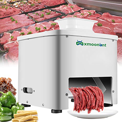 Mxmoonant Meat Cutter Machine 3.5mm Thickness Commercial Meat Slicer for Restaurant Canteen Supermarket Kitchen 110V US Plug
