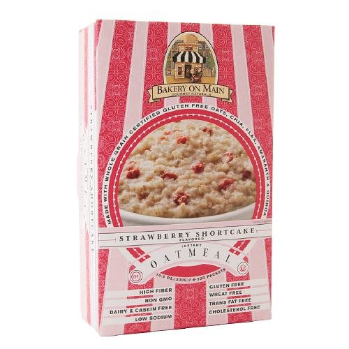 Bakery On Main Gluten Free Instant Oatmeal, Strawberry Shortcake 10.5 oz (Pack of 2)