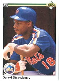 1990 Upper Deck # 182 Darryl Strawberry New York Mets - MLB Baseball Trading Card