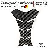 Motoking Tankpad Carbone New-Classic - réservoir de la Moto et de la Protection de la Peinture, Universel - Disponible en 3 Couleurs - Noir